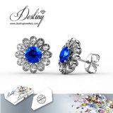 De Kristallen van de Juwelen van het lot van de Reeksen De0291 van de Oorringen van de Bloem Swarovski