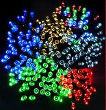 La stringa solare illumina la catena chiara di natale di serie LED per la festa/decorazione del giardino