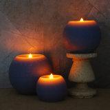 Kerze des Kugel-scharfe flammenlose Purpur-LED drei Satz