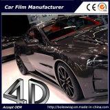 Faser-Vinylauto-Aufkleber-Auto-Verpackungs-Vinyl des Kohlenstoff-4D
