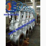 Soupape à vanne industrielle d'acier de moulage de bride de cheminée d'élévation d'API/JIS