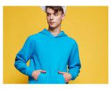 Camisola 100% em branco do algodão unisex com tração da capa sobre Hoodie