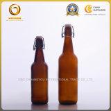 Bouteilles ambres de dessus de l'oscillation 500ml pour la bière (096)