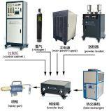 Sistema de pulverizador do plasma com o gabinete de controle da tela de toque