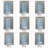 5mm Acid Glass Dobule Perfil, dobles rodillos, Chrome Perfil, vapor Cabina de ducha con bandeja