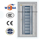 mit silberner Edelstahl-Außensicherheits-Tür des Glas-304 (W-GH-18)