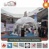 Petite tente géodésique transparente de demi de sphère pour la salle d'exposition d'événement sportif