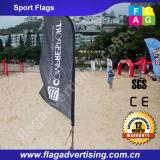 Salasso eccellente attraverso la bandierina su ordinazione del vento di volo, bandierina di spiaggia, bandiera della piuma