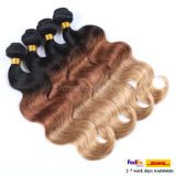 8A Grade Weaving Human Hair Extensions Ombre 인도 사람 Hair