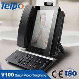 Teléfono video barato del SIP del bajo costo del OEM VoIP del precio de fábrica de China
