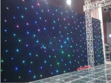 RGB 3 in 1 Tricolor LED Star Curtain per Stage Backdrop Cloth