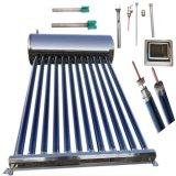 Riscaldatore di acqua caldo solare pressurizzato del sistema di riscaldamento del collettore della valvola elettronica del condotto termico dell'acciaio inossidabile