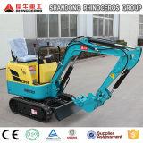 máquina escavadora da esteira rolante de 0.8t 1.2t 1.5t 1.8t, máquina escavadora barata para a venda