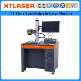 A máquina da marcação do laser da fibra do laser de Xt para a colar de aço dos anéis de casamento das pulseira do cobre da prata do ouro da platina deixa cair as correntes chaves