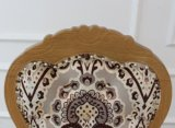 Tela de aluminio tapizada de la mirada de madera francesa de Sytle Louis que cena la silla