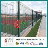 QymPVC上塗を施してある緑のビニールによって塗られる溶接された金網の塀