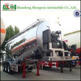 40m3 de Aanhangwagen van Bulker van het Cement van het aluminium/de Droge Aanhangwagen van de Tank van het Cement van de Carrier van het Poeder Bulk