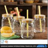 Grüne Glasware-Maurer-Flasche für Getränk