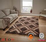 vita Shaggy dell'interno antisdrucciolevole della moquette di effetto 3D/coperte zona molli della camera da letto