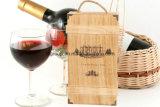 Het milieuvriendelijke Afgedrukte Embleem paste de Houten Verpakking van de Wijn in Verschillende Afwerking aan
