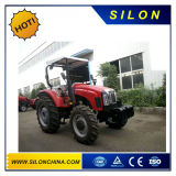 100HP trattore agricolo (4X4) con i caricatori e l'escavatore a cucchiaia rovescia della parte frontale