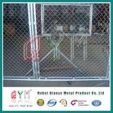 cerca cubierta PVC barata de la conexión de cadena del precio de 50X50 milímetro para el jardín o el estadio