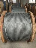 주문을 받아서 만들어진 철강선 밧줄 6X37+FC/Iwrc 제조자가 Nantong에 의하여 직류 전기를 통했다