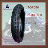 Qualität, schlauchloser Motorrad-Gummireifen mit Größe: Zeitlimit 360h18