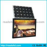 Rua quente da energia solar da venda que anuncia a caixa leve