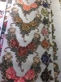 Заплата вышивки Applique цветка Fabic конструкции самой последней конструкции оптовой продажи новая для вспомогательного оборудования одежды
