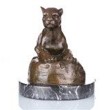 Statua d'ottone Tpal-088 della scultura Bronze del leopardo del mestiere animale della decorazione