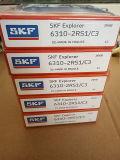 Rodamiento de bolitas profundo métrico del surco del rodamiento SKF 6308-2RS1/C3 del balanceo