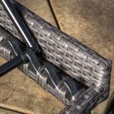 Salotti esterni del rattan del PE del patio registrabile buono di Furnir T-091