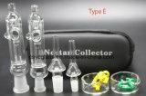 Collecteur en verre de nectar de la pipe de fumage de conduite d'eau 10mm 14mm/18mm