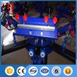 6 Farben-manuelle Shirt-Bildschirm-Drucken-Maschine