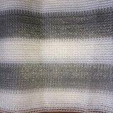 バルコニーの陰の網の、灰色および白い縞、HDPEはRaschelの網を編んだ