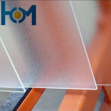 Verre solaire solaire transparent en cristal en verre modelé