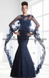 Arabian Lace Mãe Vestido formal Vinho Dark Navy Party Prom Evening Dress Z106