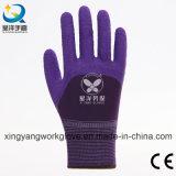Пена латекса вкладыша полиэфира 3/4 перчаток Coated безопасности работая (L004)