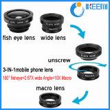 Lentille universelle 3 de clip dans 1 lentille d'oeil de poissons, de cristallin de poissons, grande-angulaire et macro pour tout le téléphone de Samrt