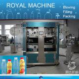 Machine à étiquettes de chemise de bouteille de jus de l'eau pour le corps et le chapeau de bouteille