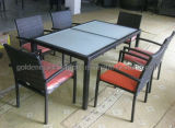 Tube e Waterproof Wicker Table e Chairs de alumínio Outdoor Furnitures (FP0275)