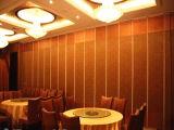 Parede de divisória móvel de alumínio e parede de divisória operável para o restaurante