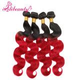 I capelli di Remy di colore di Ombre di alta qualità tessono i capelli umani dell'onda malese del corpo