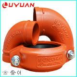 Codo de la tubería y codo Grooved del tubo para el sistema de seguridad de fuego