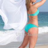 Swimsuits сини бирюзы Бикини Swimwear женщин самые последние Nylon