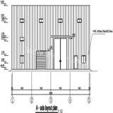 フランスのためのプレハブの欄干の壁の鉄骨構造の研修会