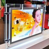 수정같은 가벼운 상자를 광고하는 A4 LED 빛