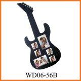 Деревянная рамка фотоего коллажа с типом гитары (WD06-56B)