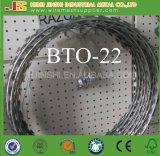 Bto-22 Caliente-Sumergió la cerca de alambre soldada de púas galvanizada de la maquinilla de afeitar acordeón